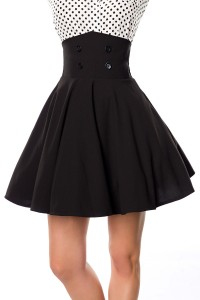 kurzer Swing-Rock mit High Waist Taille