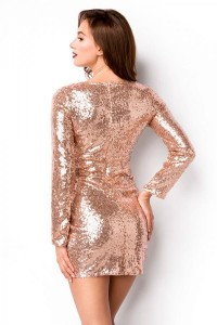Pailletten-Kleid in  Rosegold