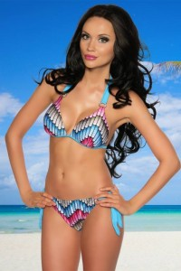 Push-Up Bikini mit Strasstein