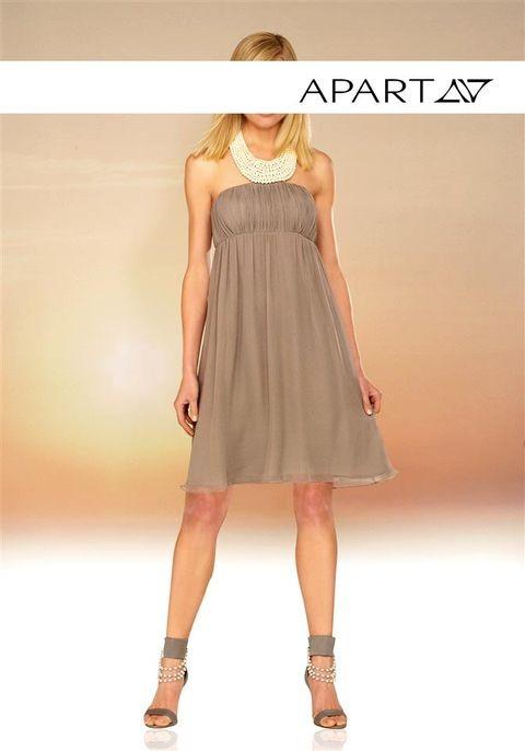 Elegante kleider taupe