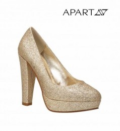 Luxus Abend-Pumps in Gold