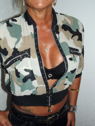 Camouflage Bluse mit Strass  A...