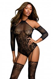Dreamgirl Netz-Bodystocking schw...