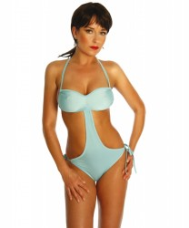 Monokini in Brustgegend raffen l...