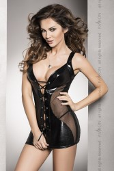 Clubwear Wetlook Minikleid mit ...
